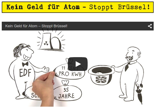 EWS-Kampagne: Kein Geld für Atom - Stoppt Brüssel!