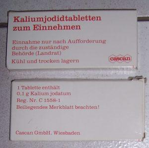Foto einer Jodtablette-Packung