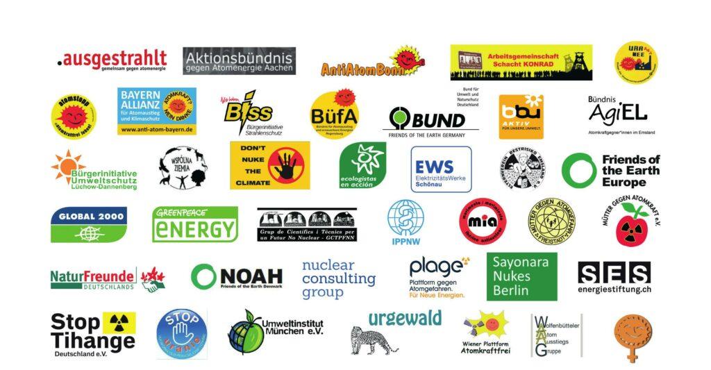 Logos der Initiativen und Organisationen, die unterzeichnet haben.
